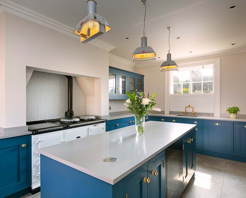 Contemporary bespoke shaker kitchen Norfolk