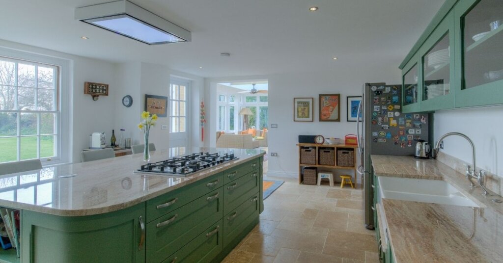 green kitchen farrow and ball from Kestrel Kitchens