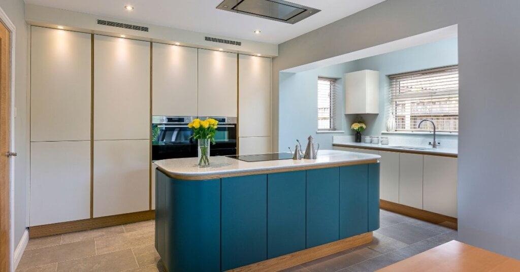handless design cabinets from kestrel kitchens