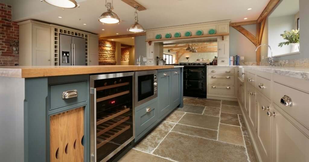 two toned kitchen by kestrel kitchens