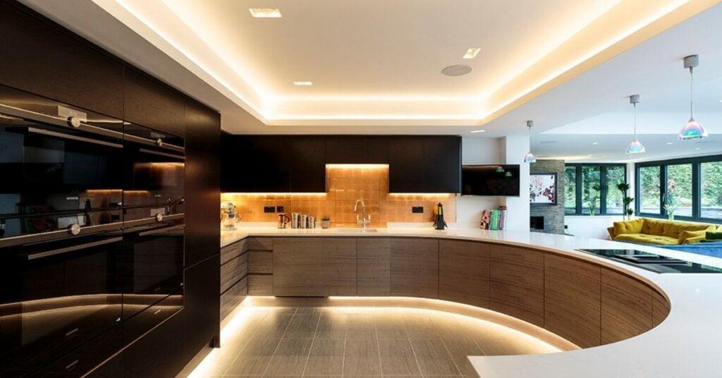 Brown kitchen design - kestrel kitchens