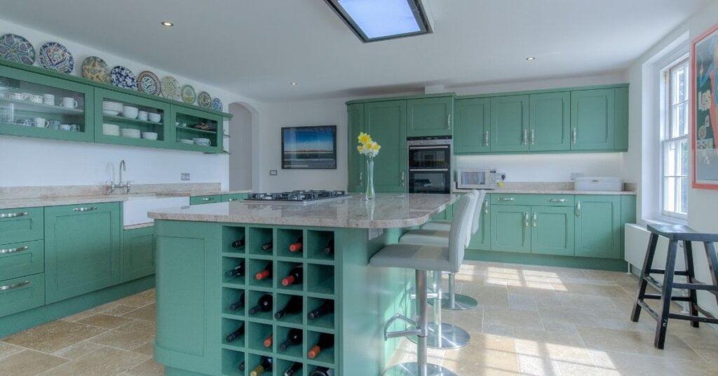 Green kitchen colour - kestrel kitchens