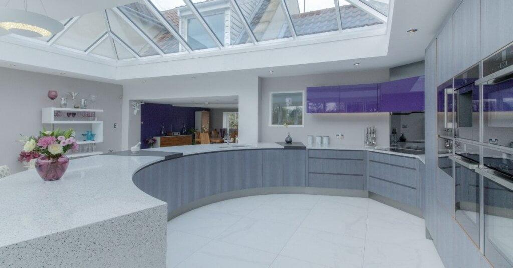 grey kitchen - kestrel kitchens