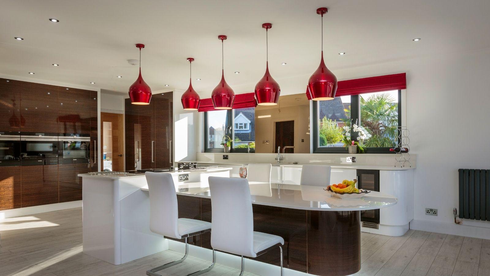 Statement kitchen pendants - Kestrel Kitchens